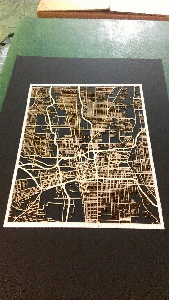A laser cut of my favorite city for cheap! Yes plz!