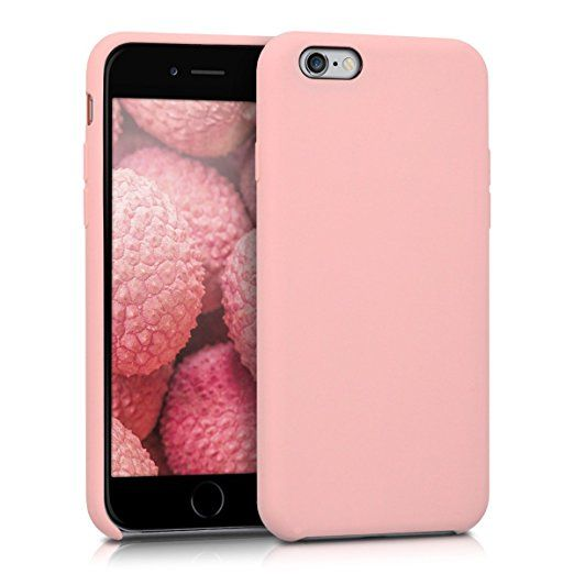 kwmobile TPU Silicone Case with Rubber Cover for > Apple iPhone 6 / 6S < in rose gold matt