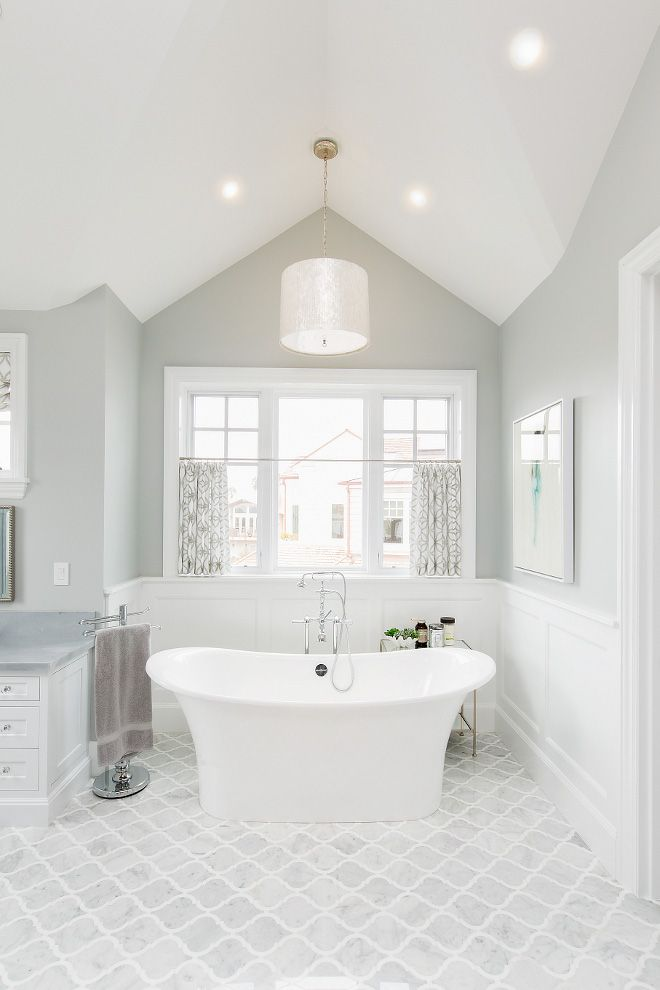 Benjamin Moore Stonington Grey Bathroom Paint Color Benjaminmoorestoningtongrey Paintcolor