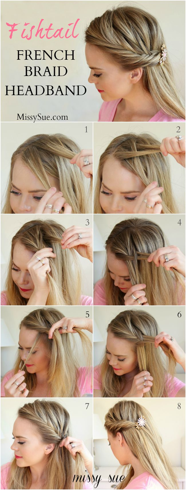 French braiding tips - Fishtail French Braid Headband Missysue Com