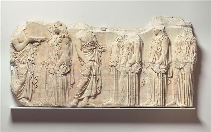 Procession de la fête des Grandes Panathénées : ordonnateurs et ergastines