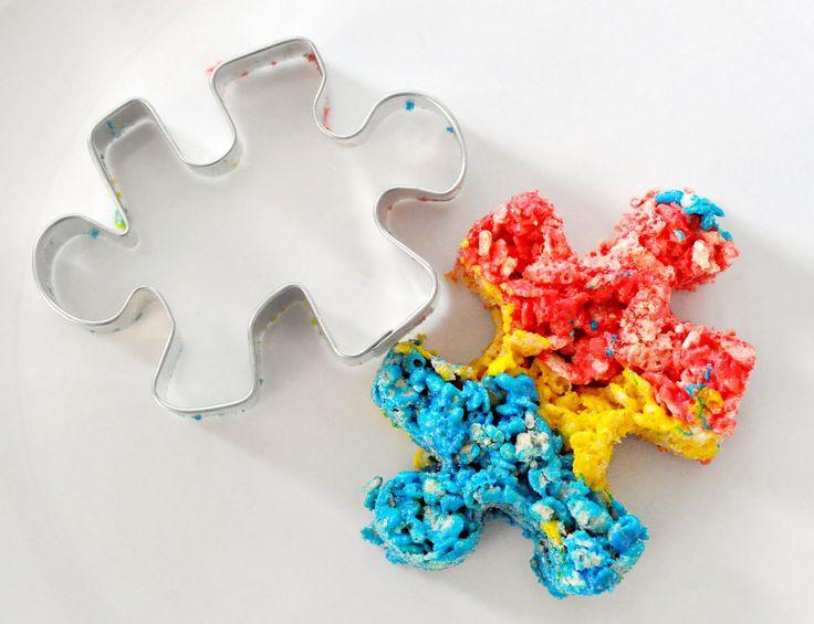 Autism Awareness cookies & rice crispie treats!