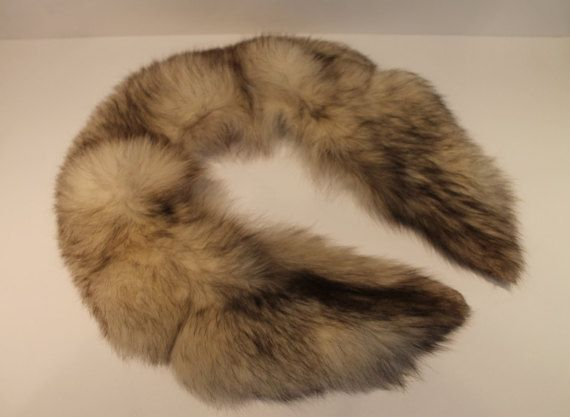 Vintage Real Fur Detachable Collar  Genuine Animal by FunkieFrocks.FunkieFrocks on etsy. Coupon code SPRING17 for 20% off.