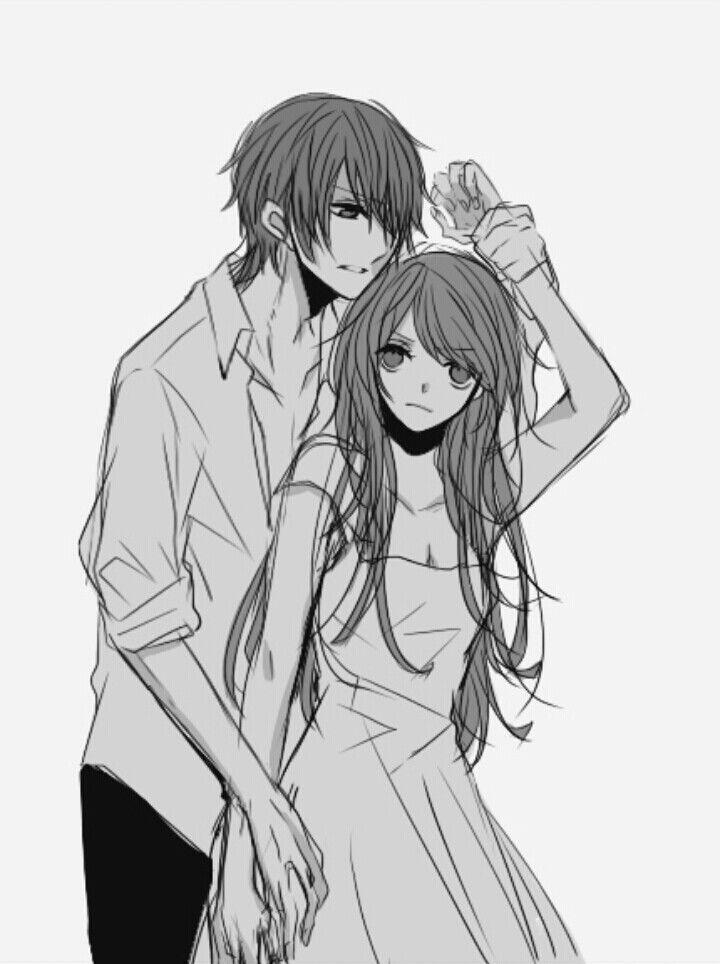 (Angry x fighting) anime girl + guy ..anime couple