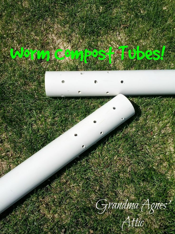Worm composting tubes inserted into your raised garden bed. You fill with kitchen scraps, the worms crawl in, eat and crawl back out.  Grandma Agnes' Attic: {Organic} Raised Bed Garden, Part Two {Filling the Bed}