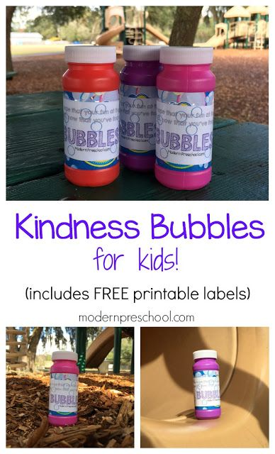 Secret Act of Kindness: Hide bubbles at the park for kids to find while playing…