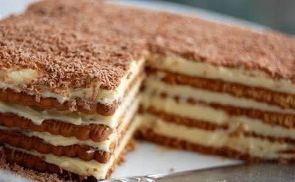 طرز تهیه کیک یخچالی با بیسکویت پتی بور با دو دستور متفاوت Food Marie Biscuit Cake Desserts