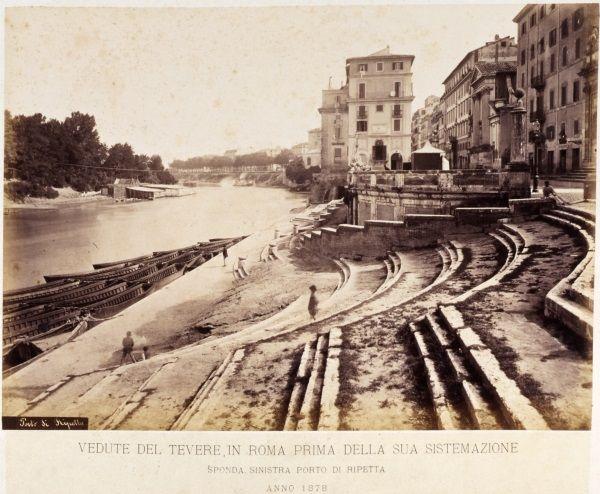 Veduta dell'antico porto di Ripetta / Fotografia / Route by subject - Museo di Roma