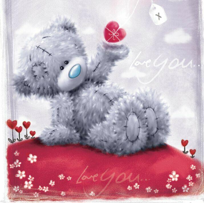 Подари улыбку, открытки любимой с мишкой