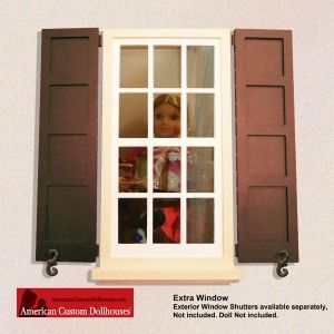 Extra window features clear acrylic multi paneled for Recessed panel shutters