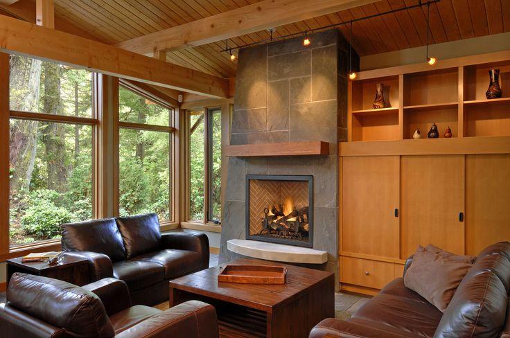 Fireplace - flat stone