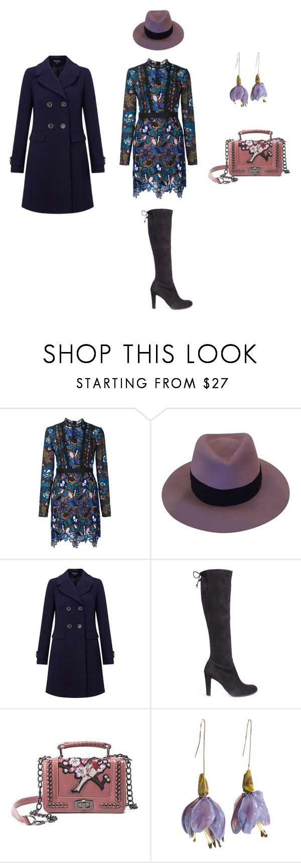 """Albina"" by lar-ra on Polyvore featuring self-portrait, Maison Michel, Miss Selfridge и Stuart Weitzman"
