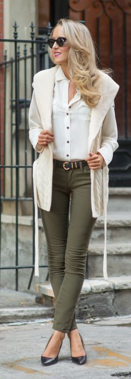 Olive Green Skinnies by The Classy Cubicle