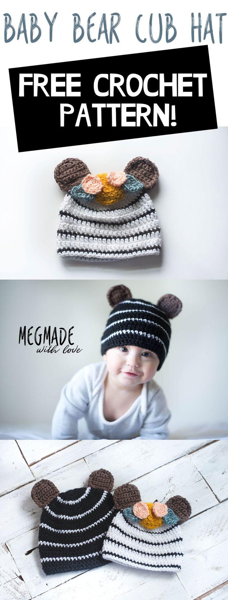 Free Crochet Pattern for Baby Bear Cub Hat