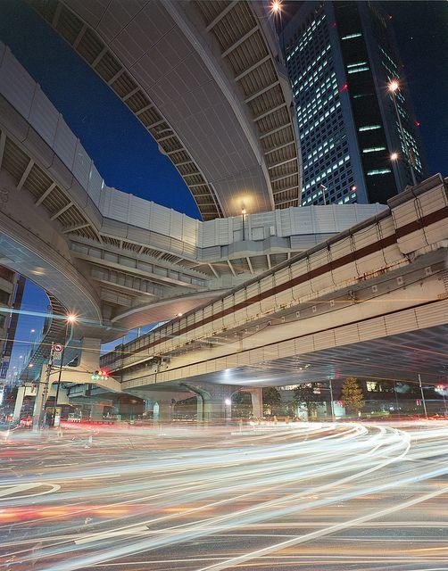 Elevated expressways near Hatsudai Station, Tokyo