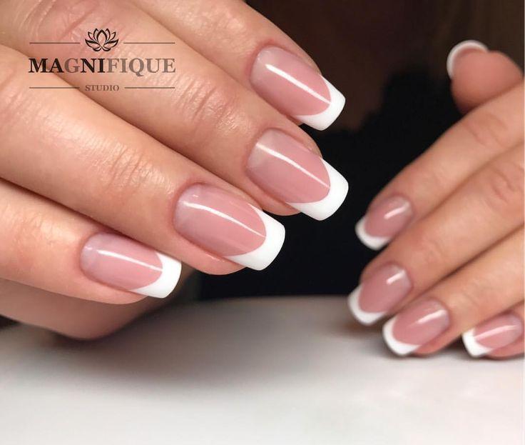 "French Nails Square Magnifque Studio (@magnifique_studio_indigo_nails) auf Instagram: ""Indigo Es Cover, Igloo White #indigo #indigonails #indigonailslab #frenchnails #frenchmanicure…"""