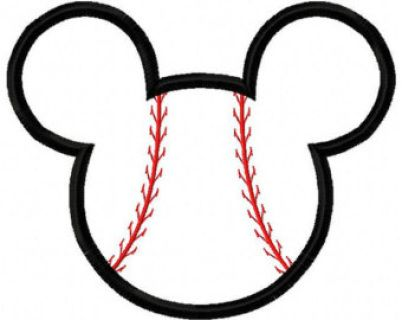 """This is a digital download for Baseball Mouse Ear Applique.  All designs are thoroughly tested to ensure a good quality. You will be thrilled with the results!  You will receive 3 sizes, which are fitted in 4x4, 5x7. and 6x10 hoop size. The exact size are: 3.87 x 3.16"""" 4.92 x 6.03"""" 6.55 x 5.43    If you don't see the format in the list,  please drop me a note for which format you need, and I will send you through email once your payment has been cleared.  DST - Tajima EXP - Melco machines HU..."""