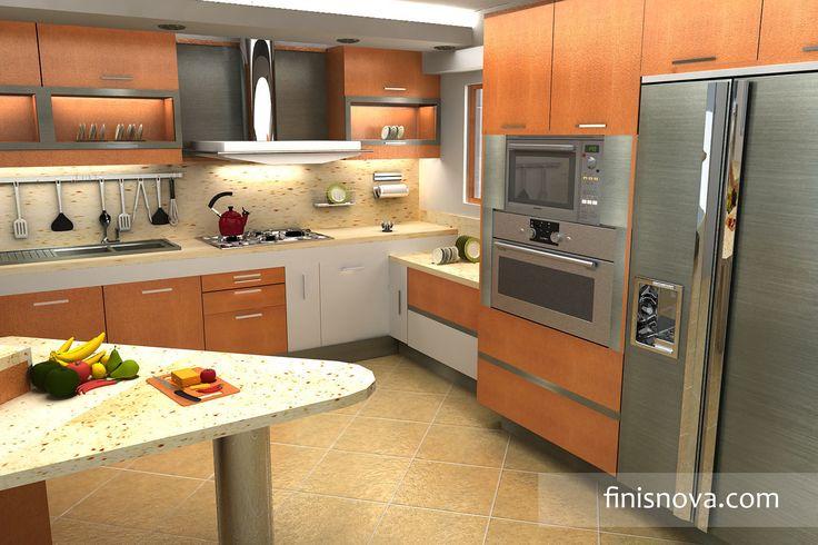 Decoraci n cocina decora tu cocina con colores frescos y for Cocinas feng shui decoracion