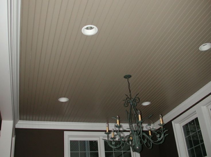 Painted Beadboard Ceiling In Bathroom  replace that weird thick paneling around the front door