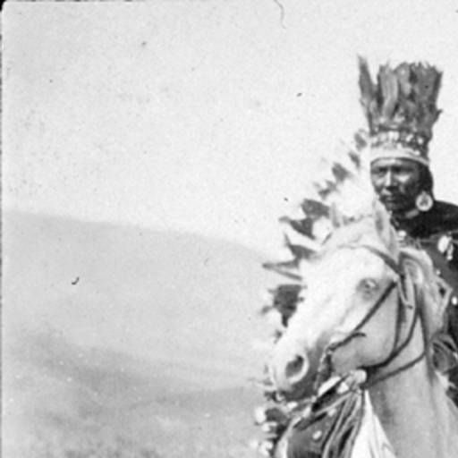 Nez Perce people on horseback, Idaho, ca. 1899 :: American Indians of the Pacific Northwest -- Image Portion