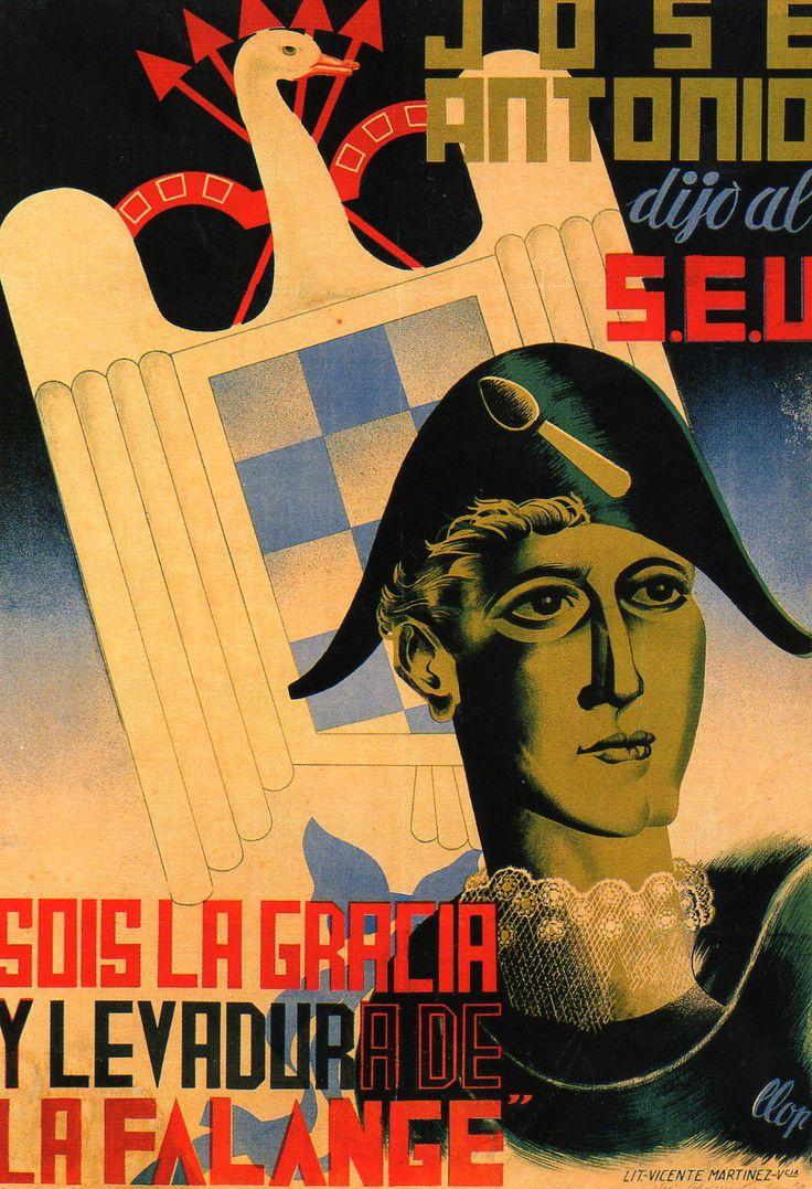 Spain - 1936-39. - GC - poster - autor: Martinez - FALANGE ESPAÑOLA.