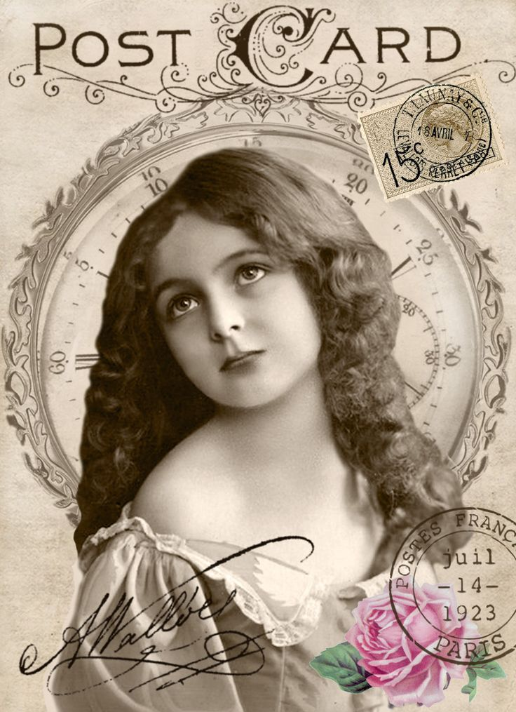 Vintage Girl Digital Collage P Free To Use