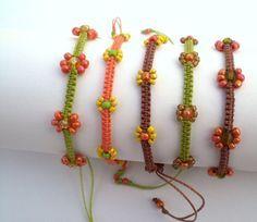 cute flower macrame bracelets on Etsy, $7.00