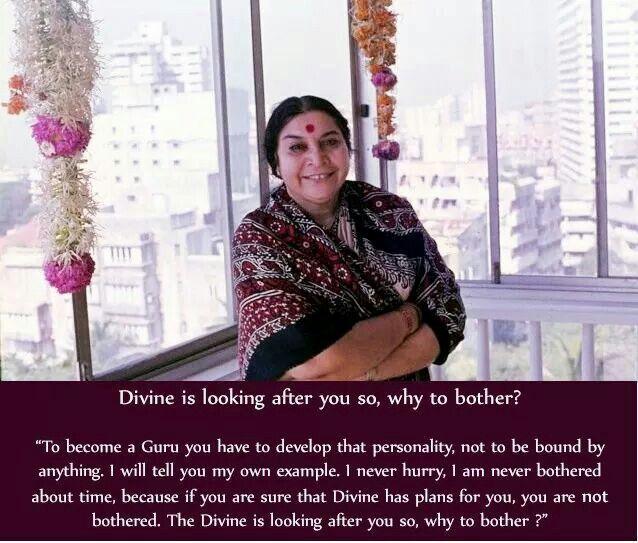 Teachings of Sahaja Yoga Meditation leader - Her Holiness Shri Mataji Niramla Devi