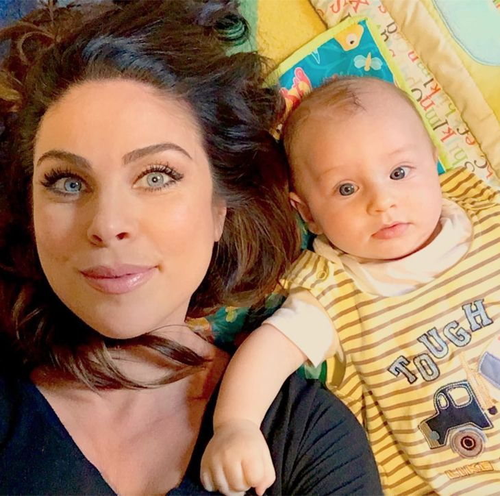 Nadia Bjorlin (Chloe Lane, Days of Our Lives) and her baby son Torin are the…