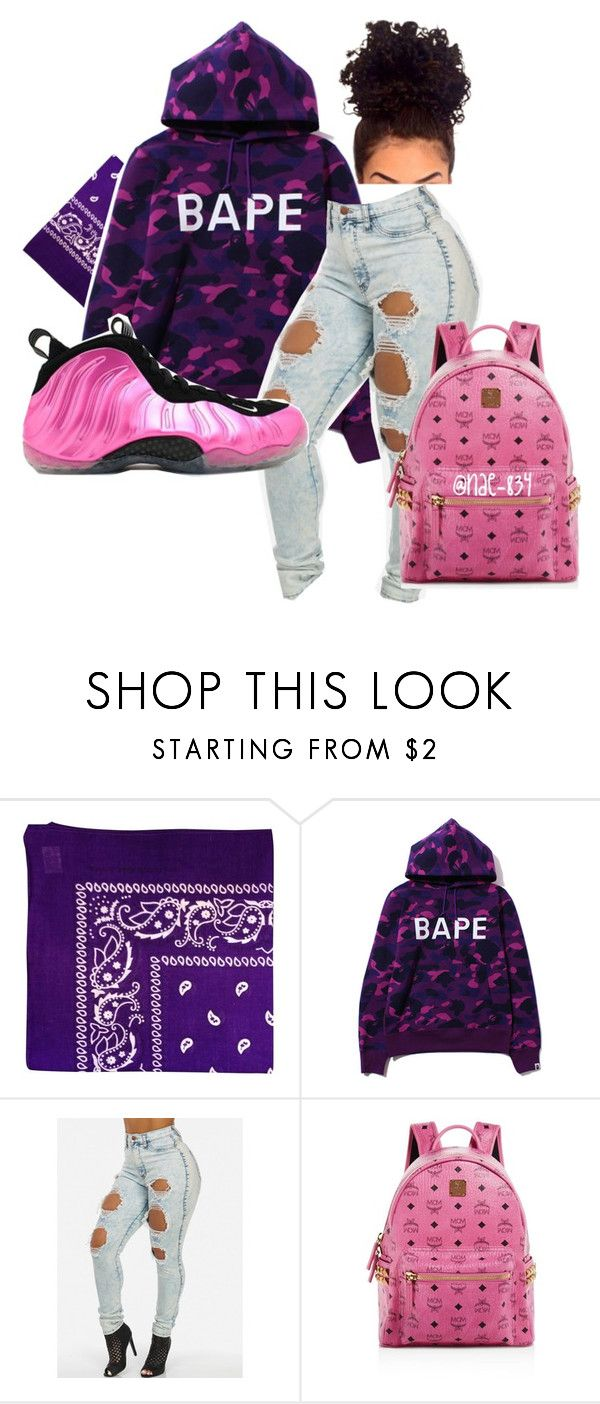 """""""Pink Foamposites"""" by nae-834 ❤ liked on Polyvore featuring NIKE and MCM"""