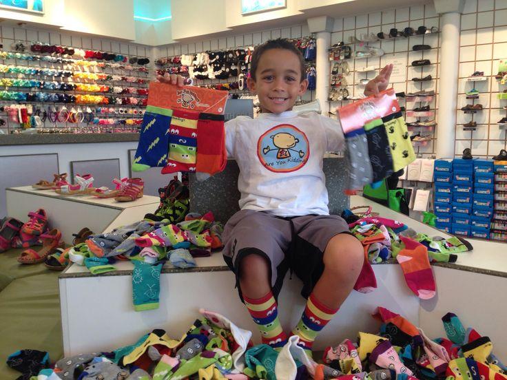 Sock sale!! 6-year-old entrepreneur.
