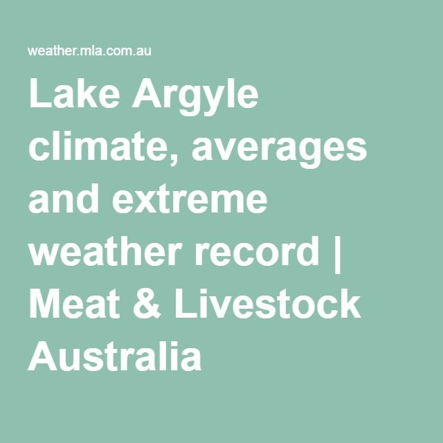 Lake Argyle climate, averages and extreme weather record | Meat & Livestock Australia