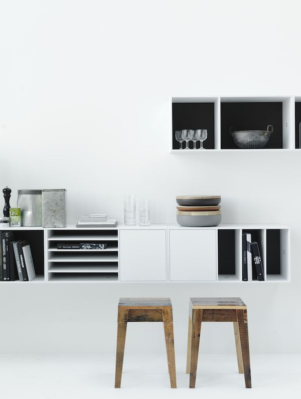 "Storage system ""Voice No. 5"", designed by Jesper Ståhl. Styling: Lotta Agaton, photo: Petra Bindel."
