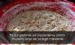 Mięszenie ciasta na chleb