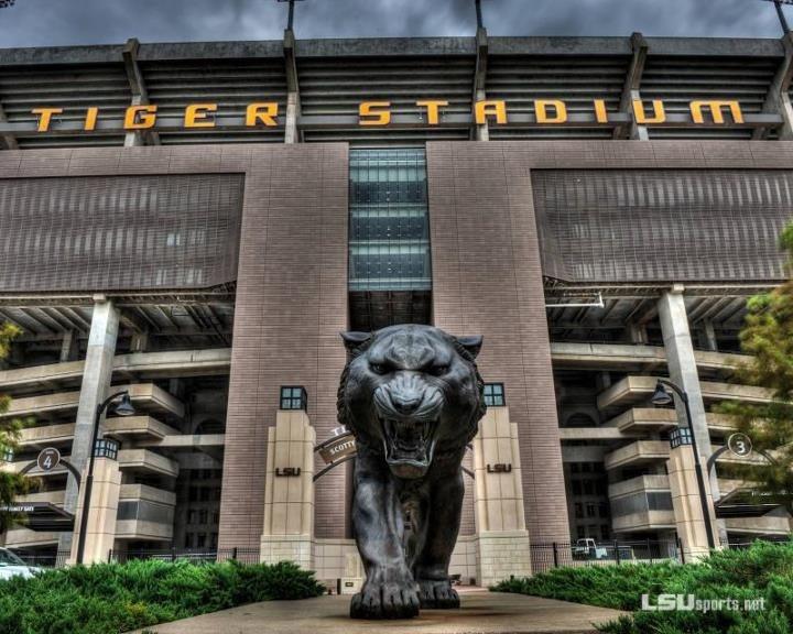 Tiger Stadium. LSU campus. Baton Rouge, Louisiana.
