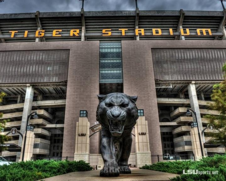 Tiger Stadium. LSU campus. Baton Rouge, Louisiana.