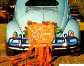 Custom JUST MARRIED sign