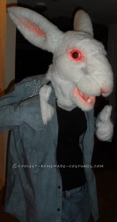 Scary white rabbit costume made from scratch rabbit for How to make a rabbit hutch from scratch