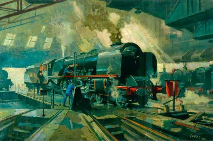The Cuneo Day Begins | Art Contrarian: Terence Cuneo's Railroad Paintings