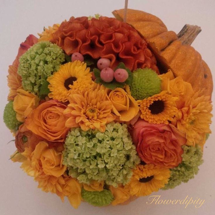 Flowerdipity pumpkin  #flowers #pumpkin #flowerdipity #autumn #halloween