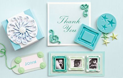 Martha Stewart decorative design dollhouse picture frame flexible push mold polymer clay silicone rubber