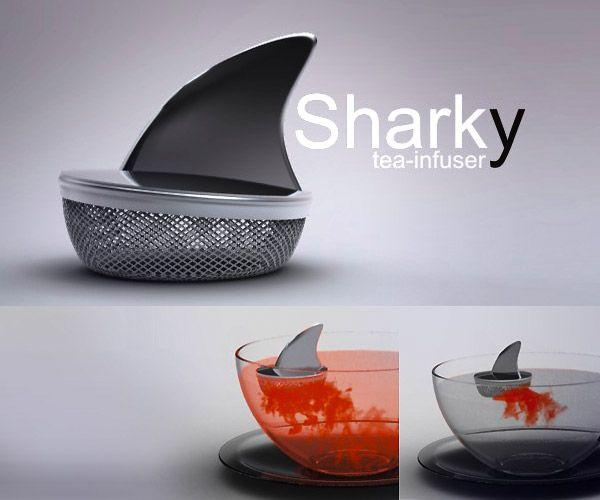 Sharky tea infuser by Pablo Matteoda.: Tea Time, Idea, Stuff, Teas, Sharks, Products, Tea Infuser