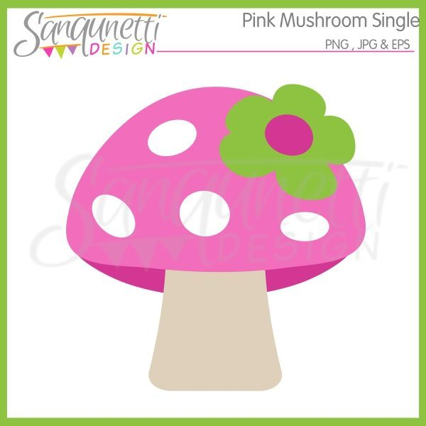 Mushroom Stamp Babes | Pink mushroom cliparts includes one mushroom, just for girls with a ...