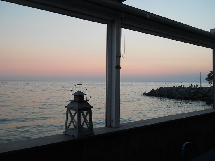 Sunset on the beach, Trieste
