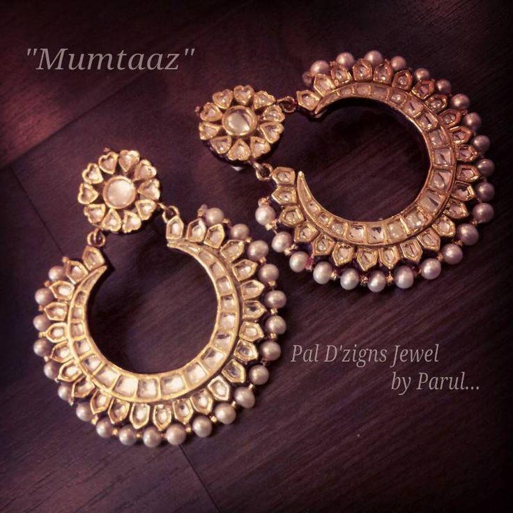 Cute Kundan pearls. I'm starting to think I actually really love Kundan jewelry