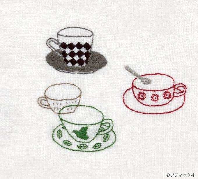 ワンポイント入れるだけでおしゃれ コーヒーカップの刺しゅうの図案 ぬくもり 刺しゅう ワンポイント コーヒーカップ 図案 アレンジ 簡単 手作り 作り方 ハンドメイド 手芸 Nukumore 刺繍 図案 図案 100 均 手芸