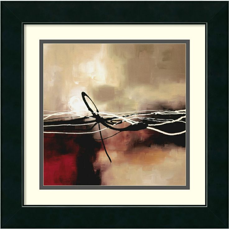 Laurie Maitland 'Symphony in Red and Khaki II' Framed Art Print | Overstock.com Shopping - Top Rated Prints