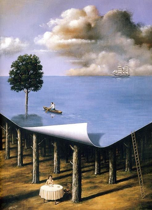 Image result for famous paintings dreaming writer with clouds