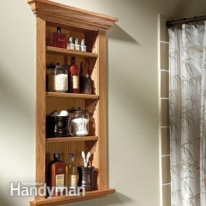 Between-studs wall shelves
