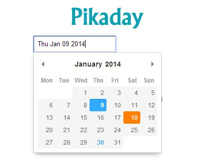 Pikaday – Refreshing JavaScript Datepicker  #jQuery #javascript #datepicker #calendar #date